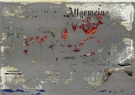 Gerhard Richter-FAZ Ubermalung (FAZ Overpainted)-2002