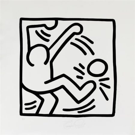 Keith Haring - Untitled (Soccer 'Pele come un jugador')-1989