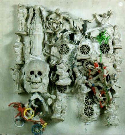 Niki de Saint Phalle-Le tombeau de Bugati-1962