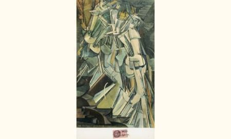 Marcel Duchamp-Nu Descendant Un Escalier No. 2 (Nude Descending a Staircase, No. 2)-1937