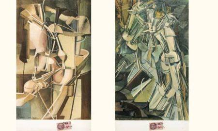 Marcel Duchamp-(i) Nu descendant un escalier; (ii) Mariee-1937