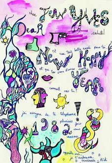 Niki de Saint Phalle-Happy New Year-1982