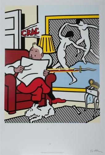 Roy Lichtenstein-Tintin Reading-1995