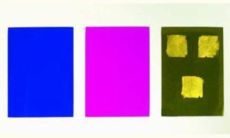 Yves Klein-Monochrome et feu-1961