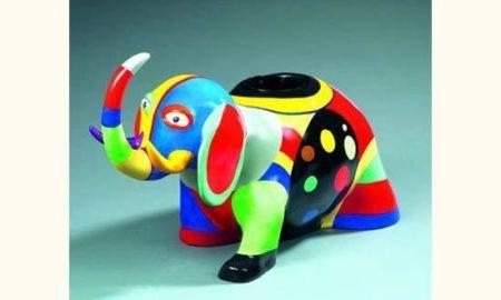 Niki de Saint Phalle-Cache-pot elephant-1985