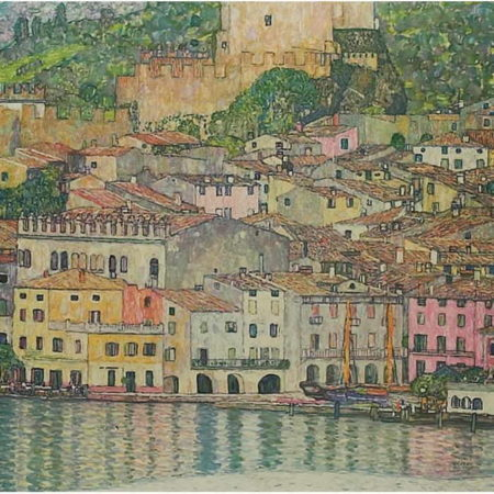 Gustav Klimt-Malcesine on Lake Garda, Italy (No. 7)-