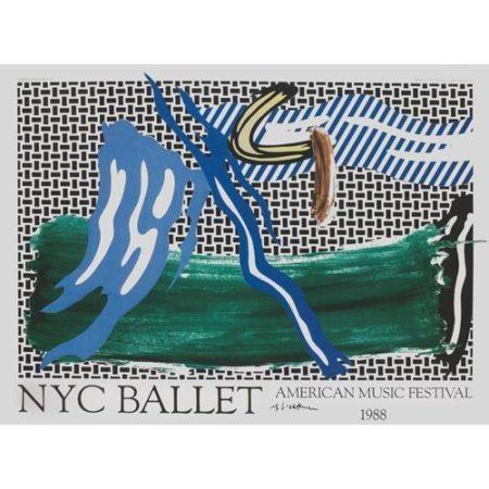 Roy Lichtenstein-NYC Ballet: American Music Festival poster-1988