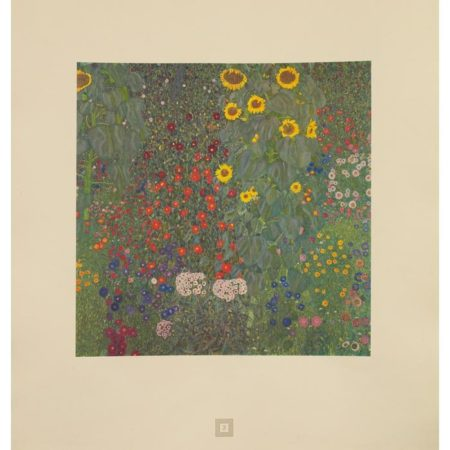 Gustav Klimt-Farm Garden with Sunflowers No. 3-