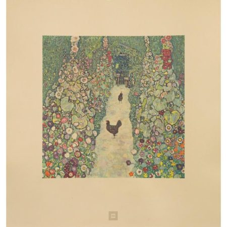 Gustav Klimt-Garden Path with Hens No.26-