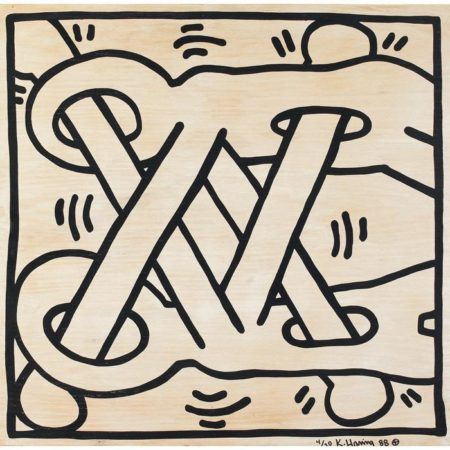 Keith Haring - Art Attack on AIDS-1988