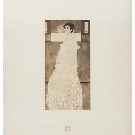 Gustav Klimt-(i) Portrait of Margaret Stonborough- Wittgenstein No. 4; (ii) Lady in Flower Hat No. 2-1905