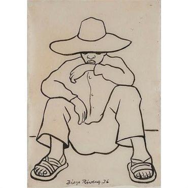 Diego Rivera-Seated Man-1936