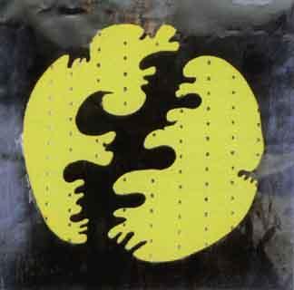 Lucio Fontana-Concetto spaziale, yellow-1965