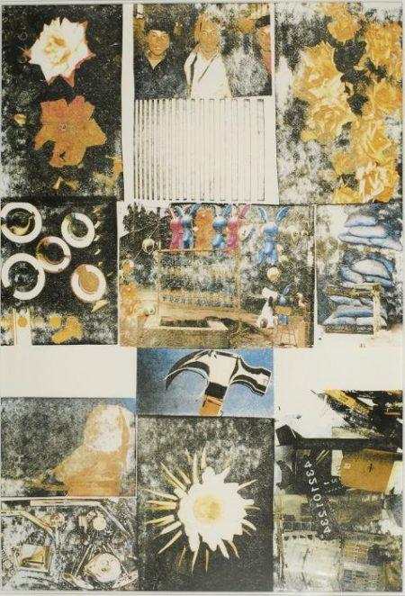 Robert Rauschenberg-Robert Rauschenberg - Charms against harm (23 artistes pour Medecin du Monde)-1990