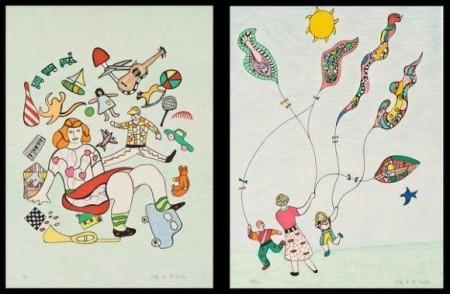 Niki de Saint Phalle-(i) Les jouets; (ii) Les cerfs-volant-1995
