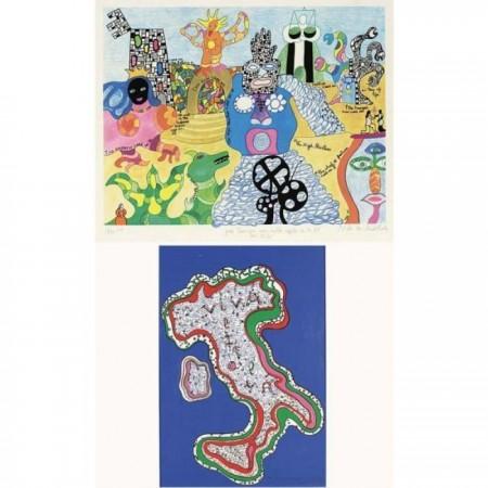 Niki de Saint Phalle-(i) Viva Italia; (ii) Untitled-1995