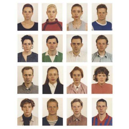 Thomas Ruff-Portraits: Carolin Rewer; Thomas Bernstein; Isabelle Graw; Sabine Weirand; Rupert Huber; Karin Kneffel; Johan Roing; Stoger; Ralf Muller; Axel Hutte; Simone Buch; Coeline; A.o. (1986)-1986