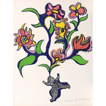 Niki de Saint Phalle-Nana bouquet fleur, ( Composition)-1971