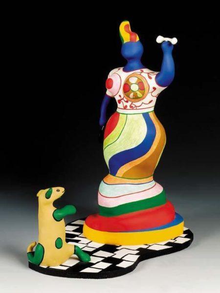 Niki de Saint Phalle-Femme au chien, (Nana au chien)-1986