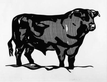 Roy Lichtenstein-Bull I; Bull II-1973
