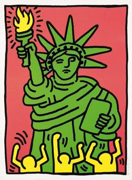 Keith Haring-Keith Haring - Statue of Liberty-1986