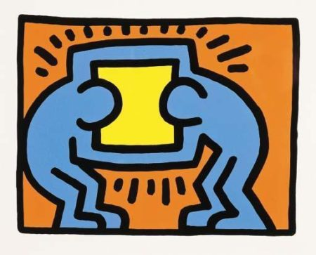 Keith Haring-Keith Haring - Pop Shop VI: Three Plates-1989
