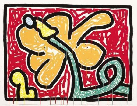 Keith Haring - Flower Suite-1990
