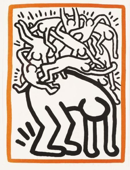Keith Haring - Fight Aids Worldwide-1990