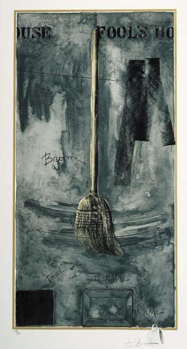 Jasper Johns-Fool's House (ULAE 103; Gemini 348) (ULAE 109)-1972