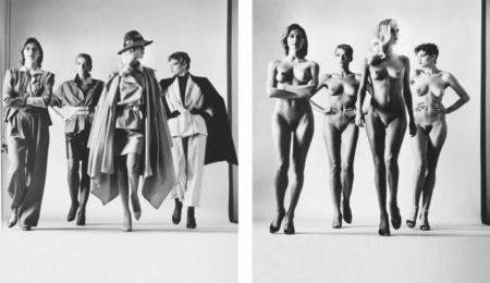 Helmut Newton-Sie Kommen, dressed; naked, French Vogue, Paris-1981