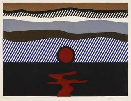 Roy Lichtenstein-De nau-dessus de Denver, from La Nouvelle Chute de l'Amerique-1992