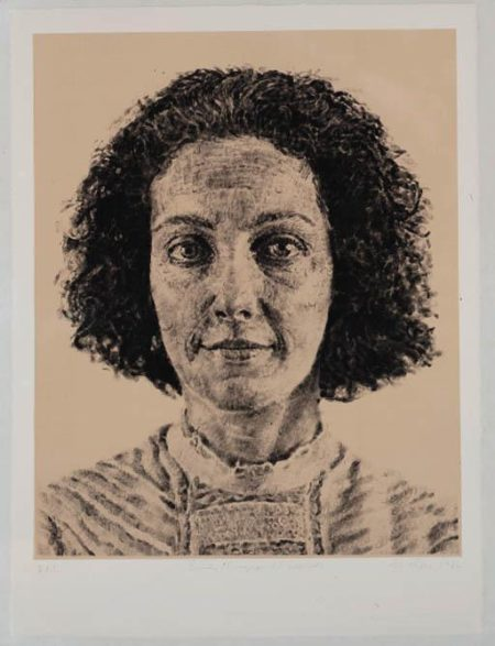 Chuck Close-Emily / Fingerprint / Silk-1986