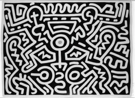 Keith Haring-Keith Haring - Growing Suite: plate IV-1988