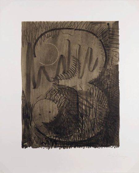 Jasper Johns-Figure 3, from Black Numerals Series (ULAE 47)-1968