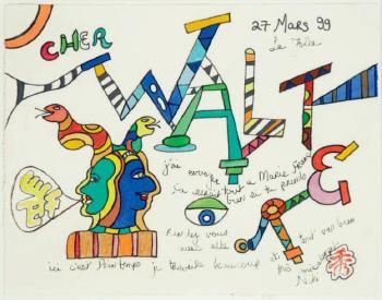 Niki de Saint Phalle-Les Serpents (Cher Walter)-1999