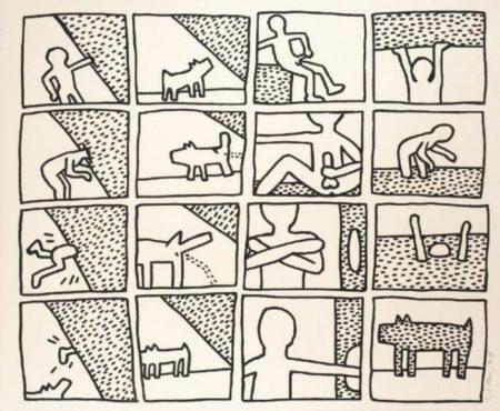 Keith Haring - Blueprint Drawings No. 11-1990