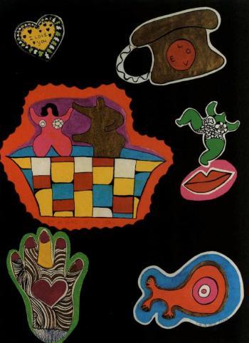 Niki de Saint Phalle-In a bath with you-1970