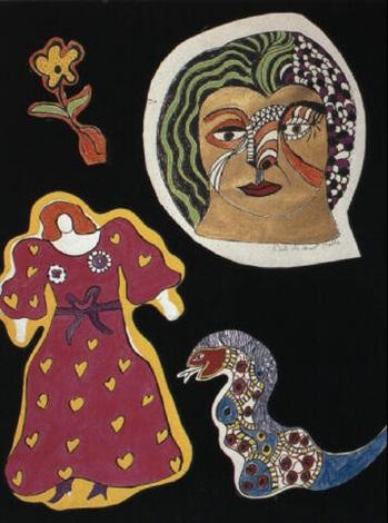 Niki de Saint Phalle-Nana a la robe rose-1970