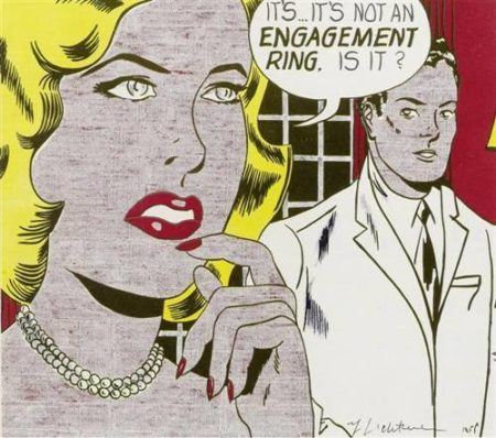 Roy Lichtenstein-Its... Its not an engagement ring, is it?-1961