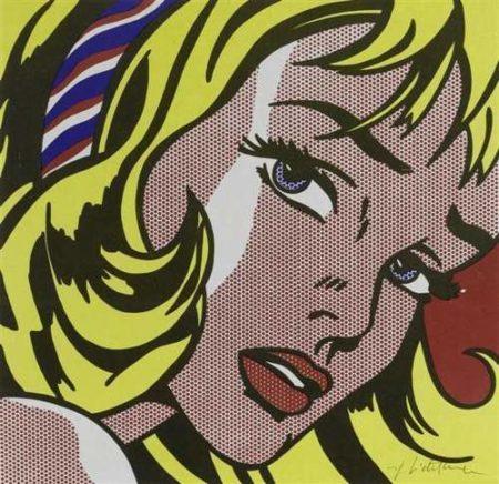 Roy Lichtenstein-Girl with Hair Ribbon-