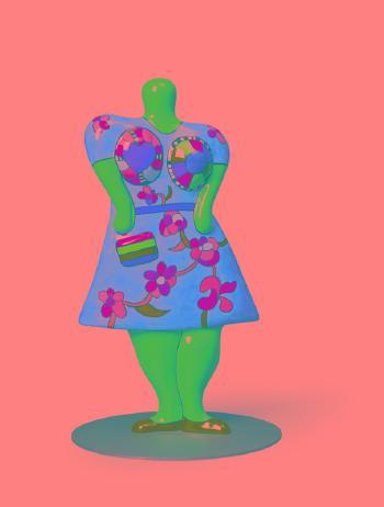 Niki de Saint Phalle-Nana with Handbag-2000