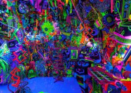 A Kenny Scharf Day-Glo installation, on view at L.A.'s Honor Fraser Gallery in 2012. 1