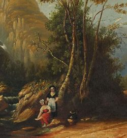 A. McPherson - Highland Scene (detail)