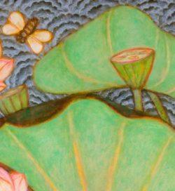 A. Ramachandran - Lotus Pond (Detail) - Courtesy of Artiana