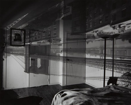 Abelardo Morell-Camera Obscura Image of the Brooklyn Bridge in Bedroom-1999