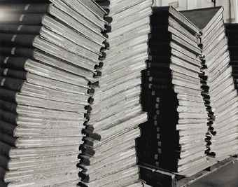 Abelardo Morell-Four Stacks of Bound Newspapers-2001