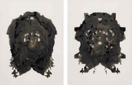 Adam Helms-Untitled Portrait (Diptych)-2008