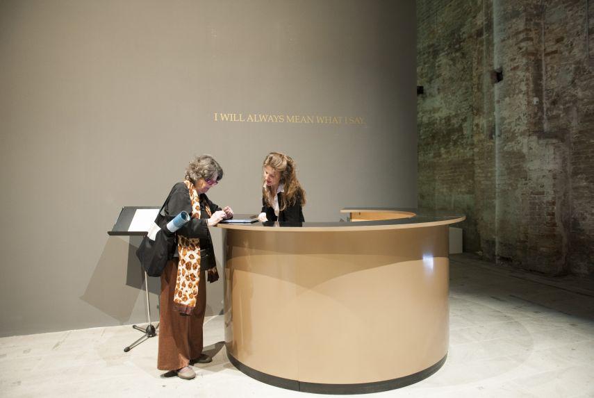 Adrian Piper, The probable trust register, Venice Biennale 2015