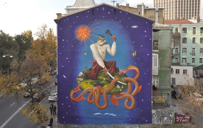 new mural work Ukraine august local read place november