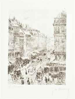 Camille Pissarro-After Camille Pissarro - La rue Saint-Lazare, from 25 Lithographies par W. Thornley d'apres C. Pissarro-1900
